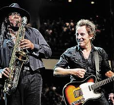 Clemons and Springsteen together on stage