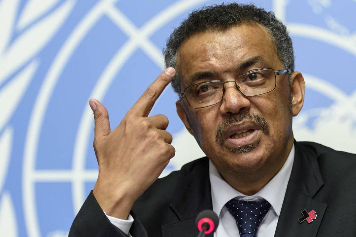 Tedros Adhanom Ghebreyesus, newly elected director general of the World Health Organization (WHO), answers questions of the journalists at the European headquarters of the United Nations in Geneva, Switzerland, Wednesday, May 24, 2017.