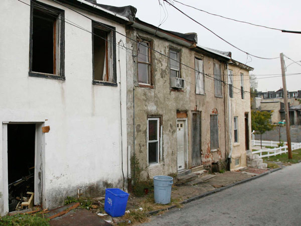 Abandoned row homes in the city´s Germantown section.