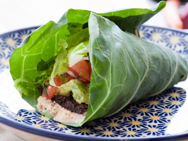 Switch up your wrap routine by using collard greens instead of a typical wrap. (istockphoto.com)