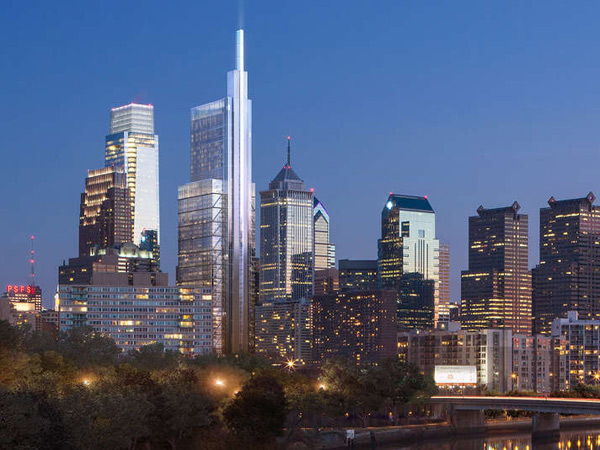 An artist´s rendering of the new Comcast building. Foster & Associates