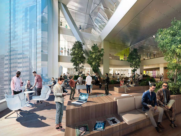 Changing skyline comcast tower a new symbol for technology - Interior design jobs philadelphia ...