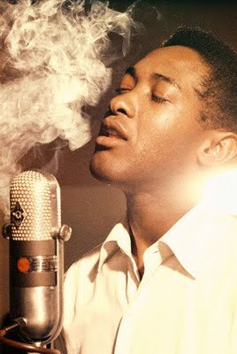 Sam Cooke, cooking at the mic.