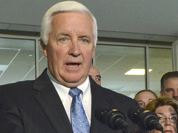 "Gov. Corbett let teachers´ union leaders have it in a letter, accusing them of using last week´s death of a student at South Philadelphia´s Jackson Elementary as an opportunity ""to grandstand and make a political statement."" (AP Photo/Marc Levy/File)"