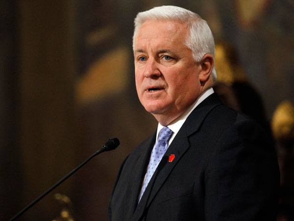 File photo: An exclusive two-day affair for generous donors was underwritten partly by Gov. Corbett´s campaign fund, and administration officials say that no taxpayer dollars were used. (AP Photo/Matt Rourke)