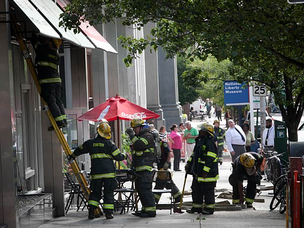 Old City building evacuated after fire