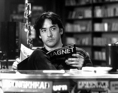 "John Cusack in ""High Fidelity,"" taking the outro up a notch."
