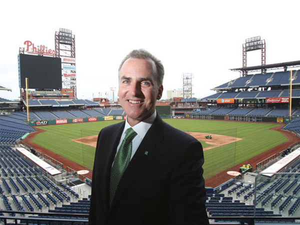 Daniel Z. Fitzpatrick, Citizens Bank president for the tri-state area, at Citizens Bank Park. (Charles Fox / Staff Photographer)