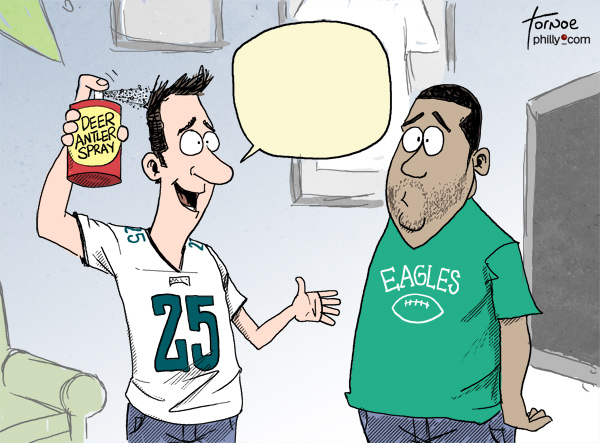 Rob Tornoe's Eagles cartoon caption contest