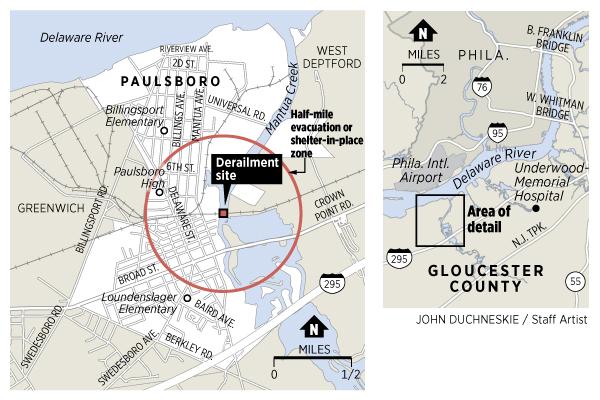 Paulsboro New Jersey Freight Train Derailment Chemical