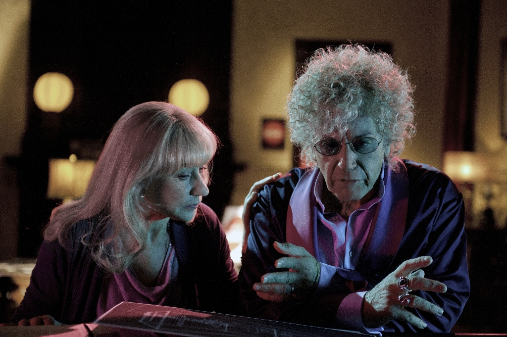 """Not outstanding, just scary: Al Pacino (right)  is in the running for actor in a mini-series or movie for HBO´s """"Phil Spector.&quot. Helen Mirren, as Linda Kenney Baden, was also nominated."""