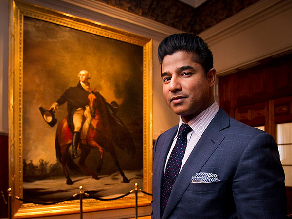 Corporate lawyer Ajay Raju, co-chairman and CEO of Philadelphia´s Dilworth Paxson LLP law firm, at the Union League of Philadelphia. (Alejandro A. Alvarez / Staff Photographer)
