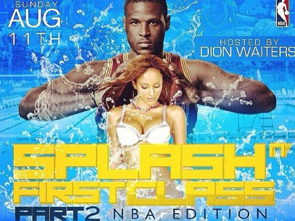 The invitation posted on social networking sites for Dion Waiters´ pool party, which was originally set for a Marlton swim club, but eventually held in Peraksie.