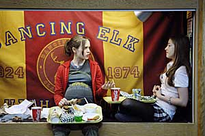 """Ellen Page, left, stars as a pregnant teen in """"Juno."""""""