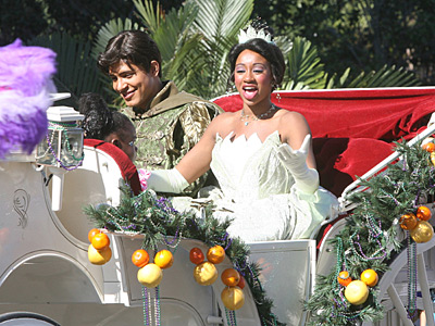 """In this 2009 file photo, the princess of Disney´s """"Princess and the Frog"""" film rides in a coach during the annual Orlando Citrus Parade. (George Skene/Orlando Sentinel/MCT)"""