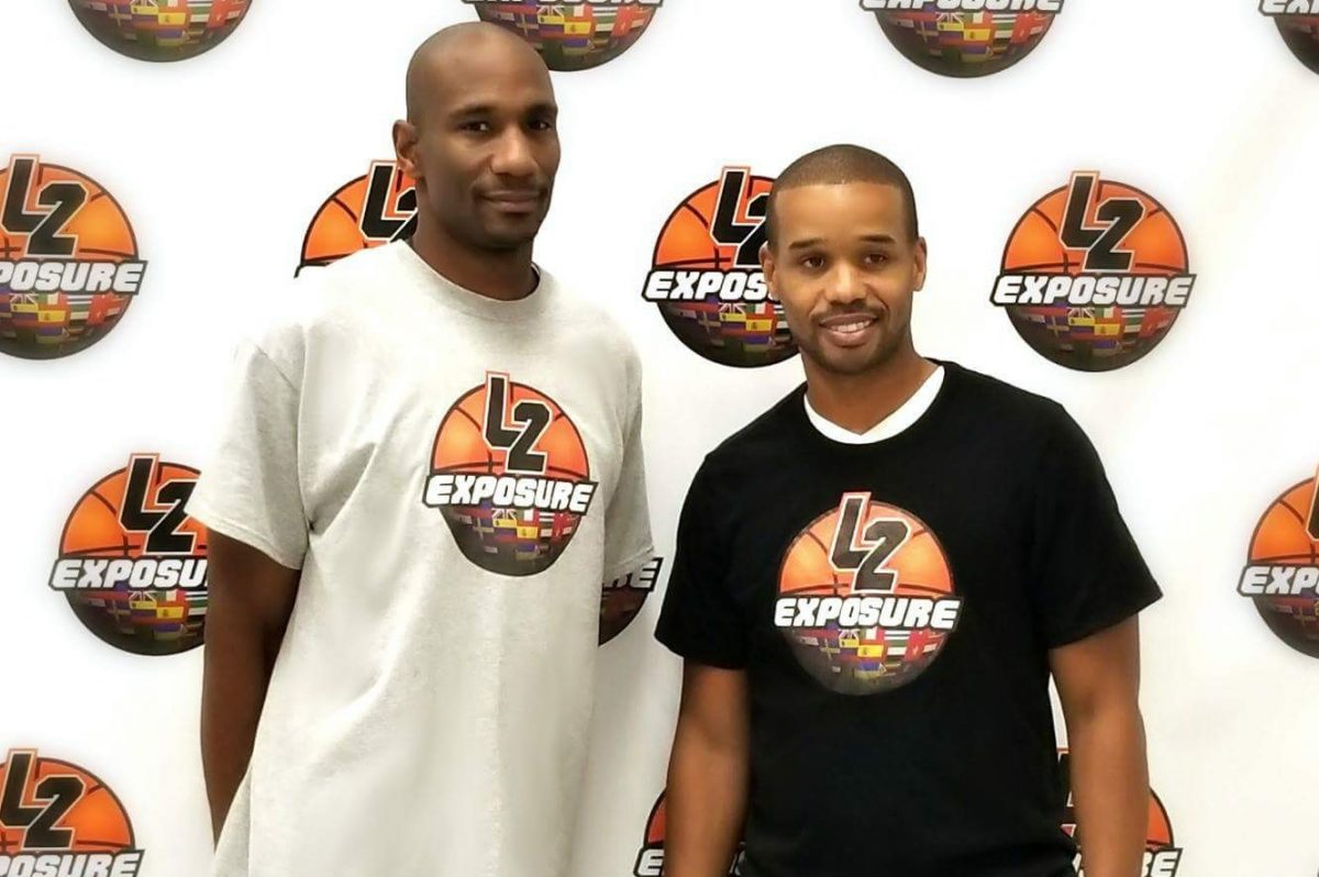 Former Temple basketball stars Lynard Stewart (left) and Lynn Greer recently held an exposure camp for local players looking to play professionally overseas as they had.