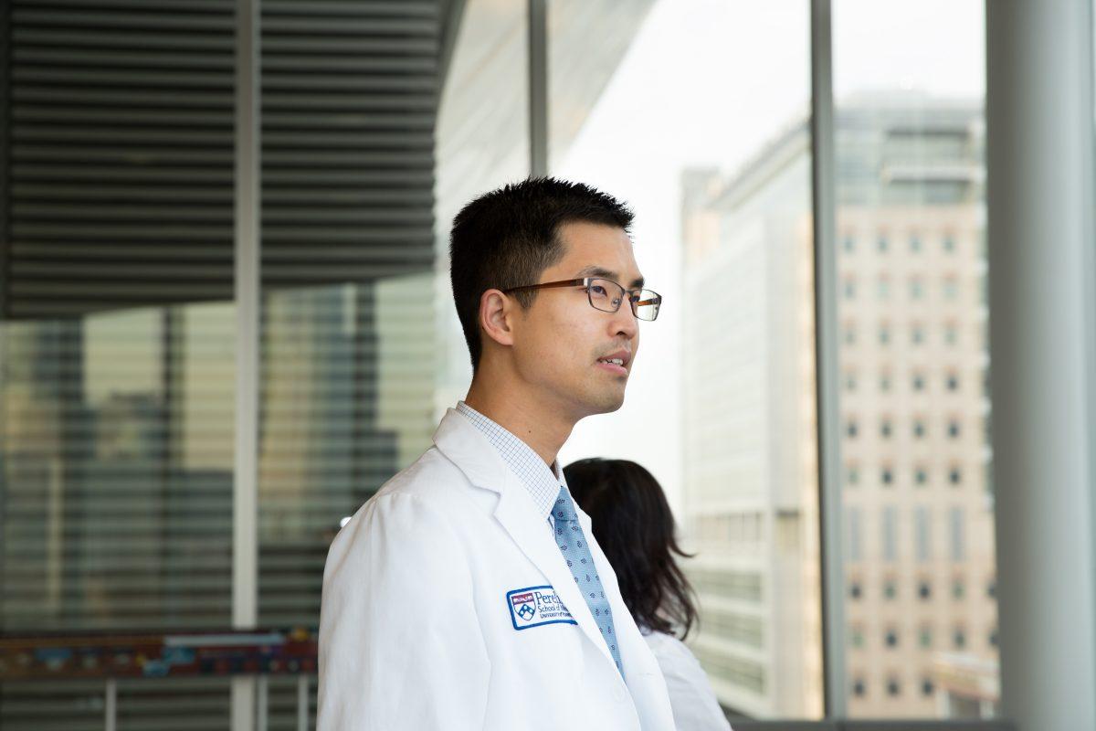 Jason Han, at the Perelman Center for Advanced Medicine in December.