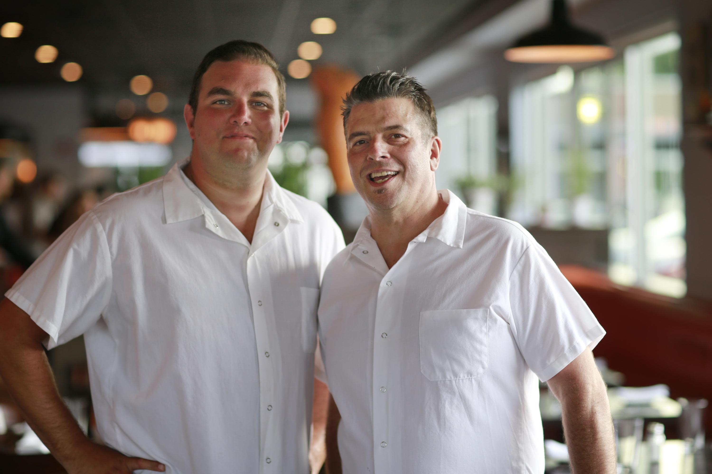 Josh Lawler (L) and Todd Fuller at Farm & Fisherman Tavern.