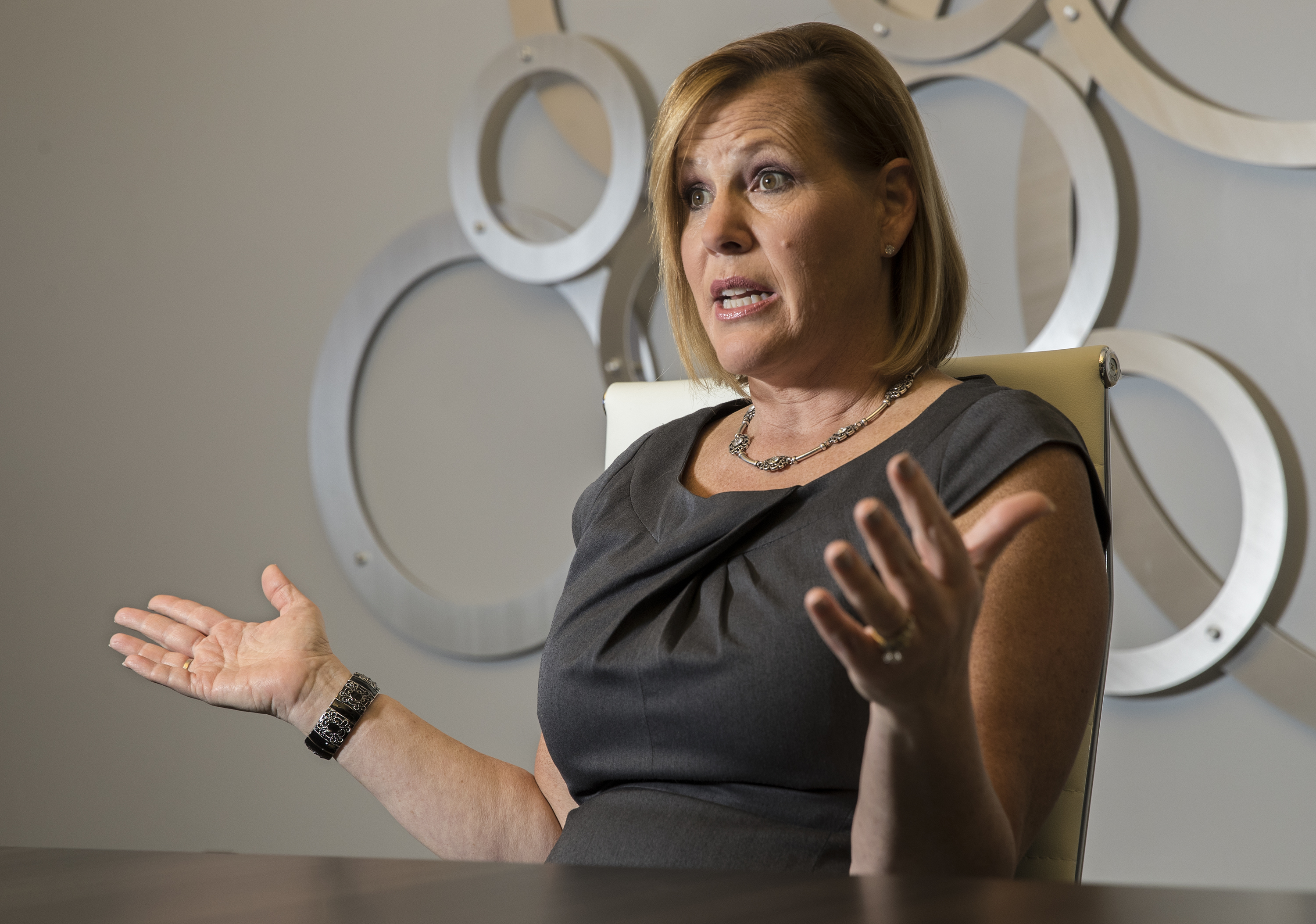 Nutrisystem CEO Dawn Zier talks about where her company is heading. Since she became CEO in November 2012 the company´s stock has grown seven-fold and it acquired South Beach Diet. MICHAEL BRYANT / Staff Photographer