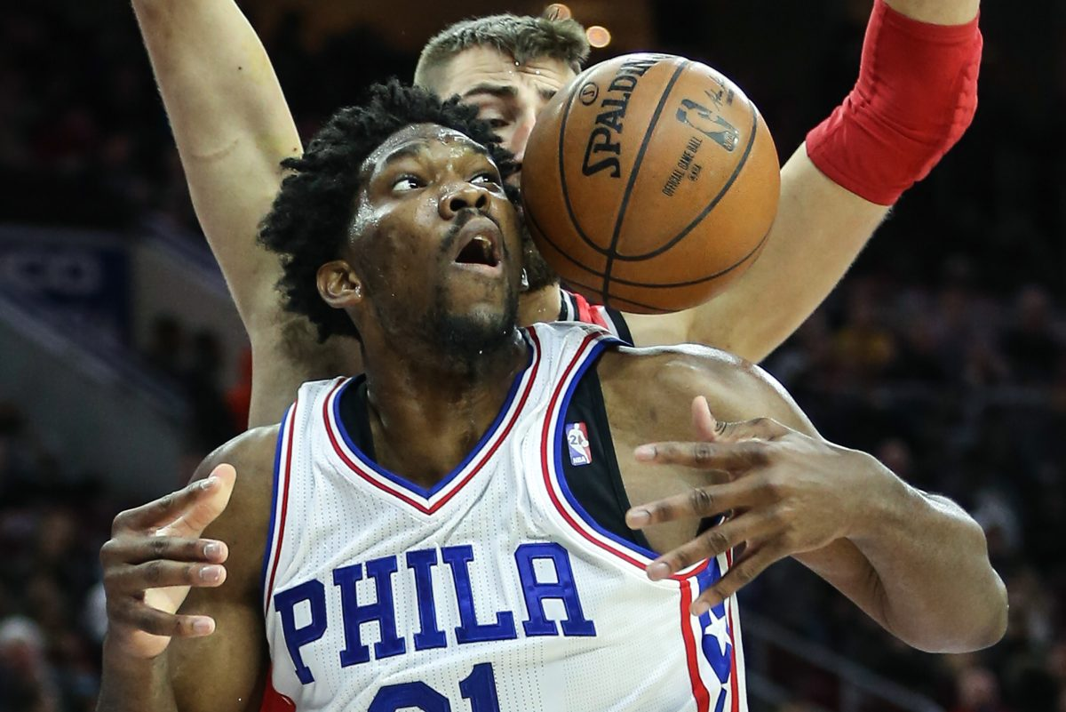 Sixers center Joel Embiid says he's excited by the idea of a London trip during the season.