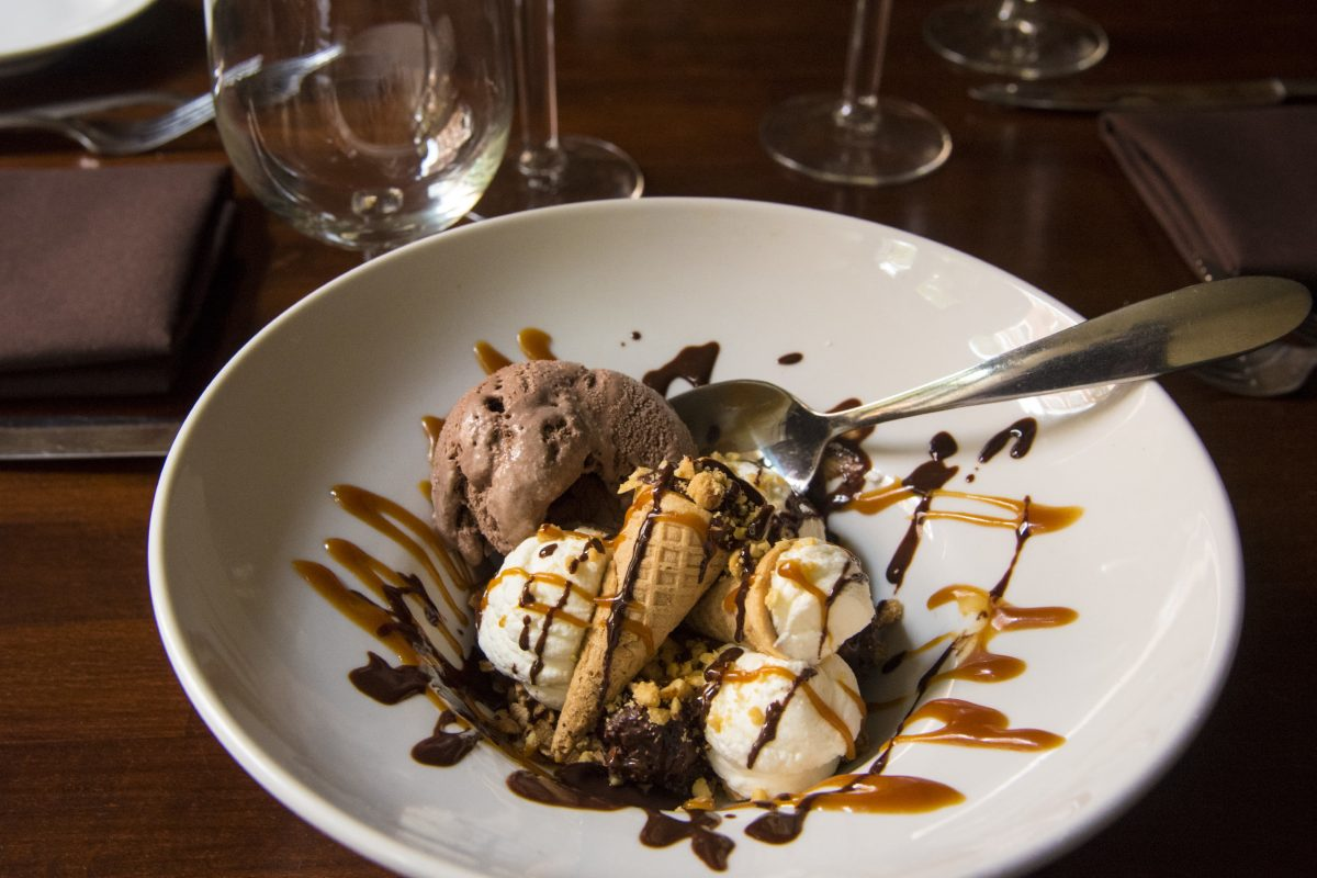 The Nutty Buddy ice cream dessert as created by Wister chef Benjamin Moore.