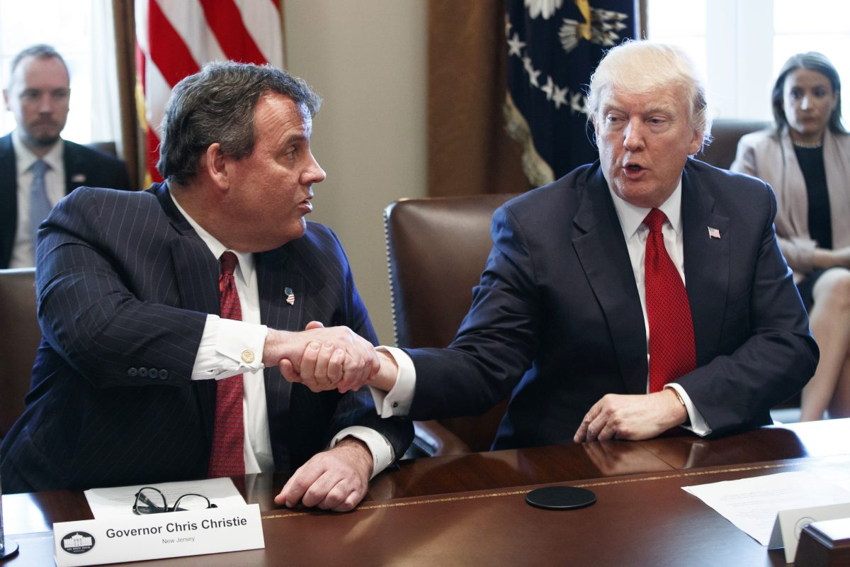 President Trump and New Jersey Gov. Christie.