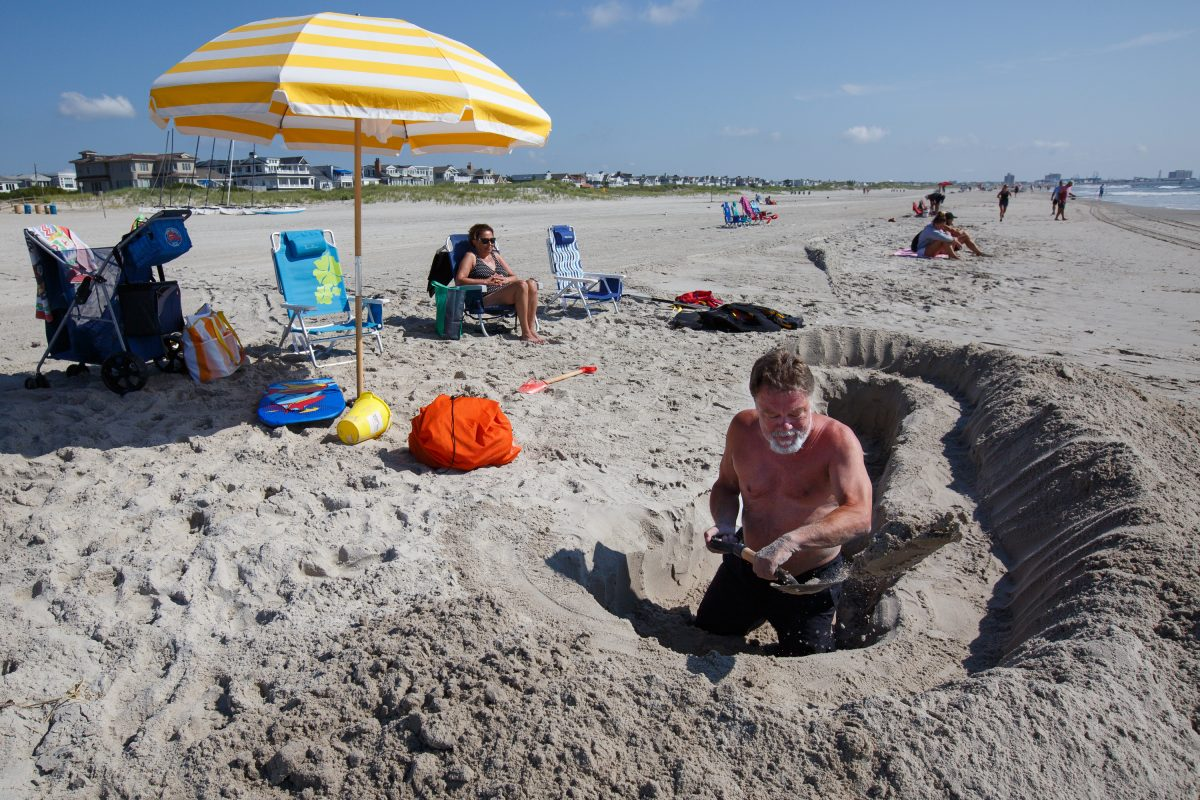 holes on jersey beaches: art form, storage area, or potential