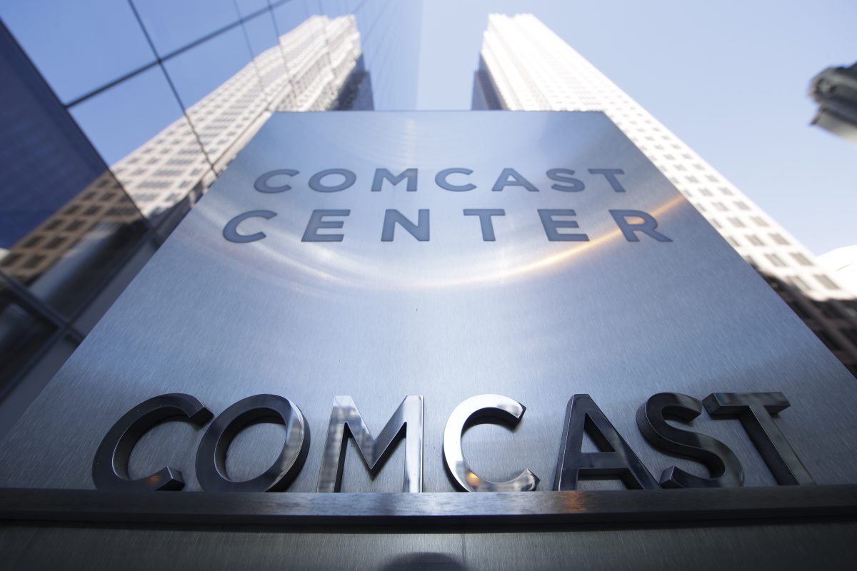 The Comcast Corp. headquarters in Center City.