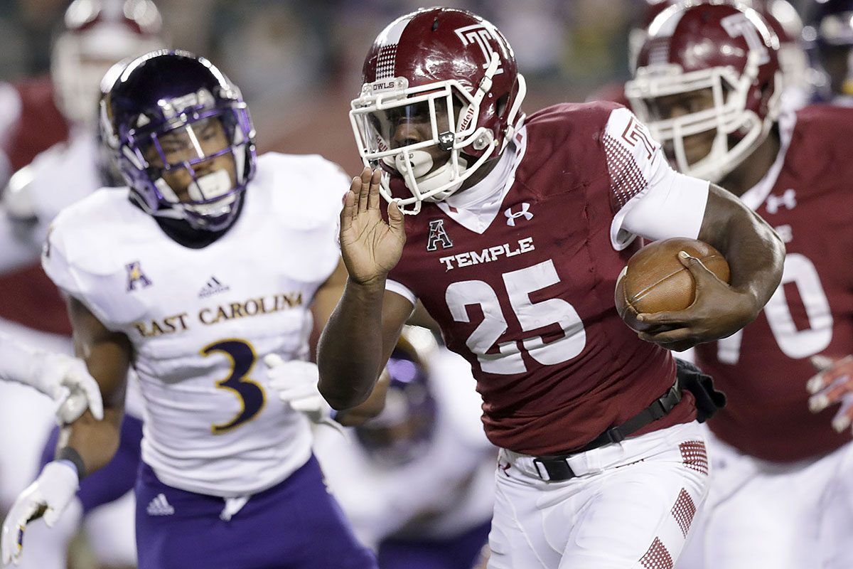 Temple running back Ryquell Armstead.