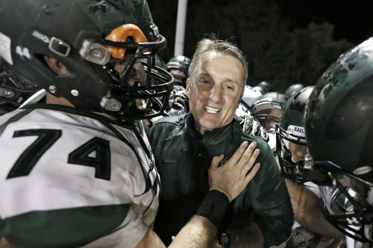 West Deptford coach Clyde Folsom after his 200th victory
