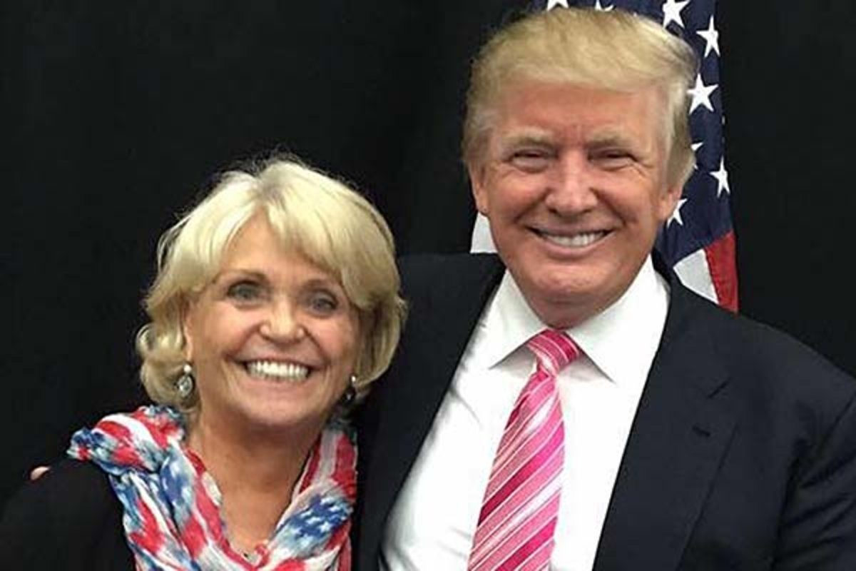 Sheriff Carolyn Welsh posing with Donald Trump  last November.