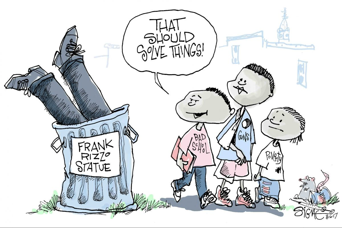 Some people are calling for the statue of Frank Rizzo to be removed from Philadelphia.