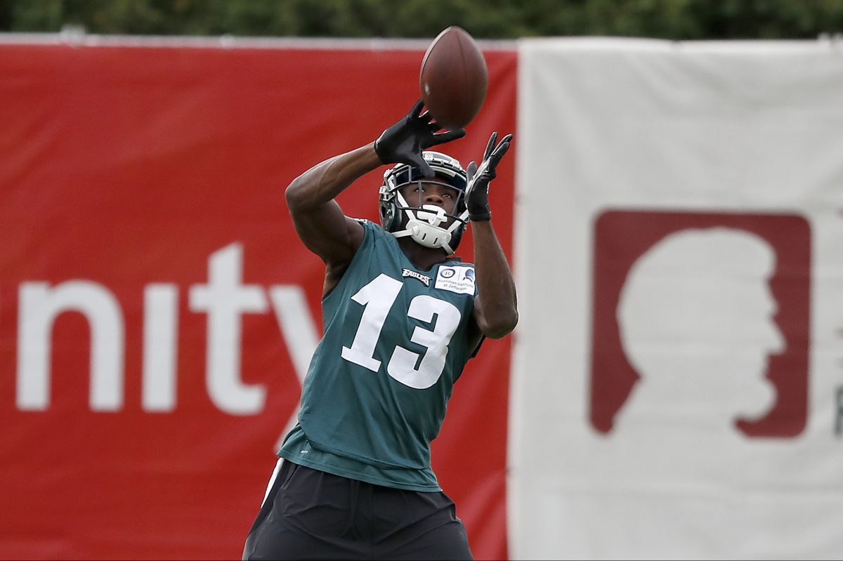 Nelson Agholor will make his debut as a slot receiver Thursday night against Buffalo.