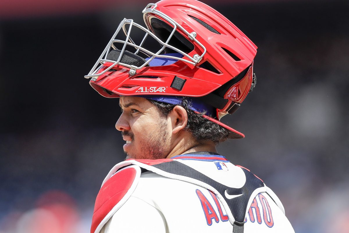 Phillies rookie catcher Jorge Alfaro has some things to learn behind the plate.