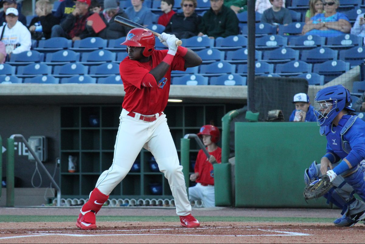 Cornelius Randolph hit his 12th homer of the season for single-A Clearwater Tuesday night.