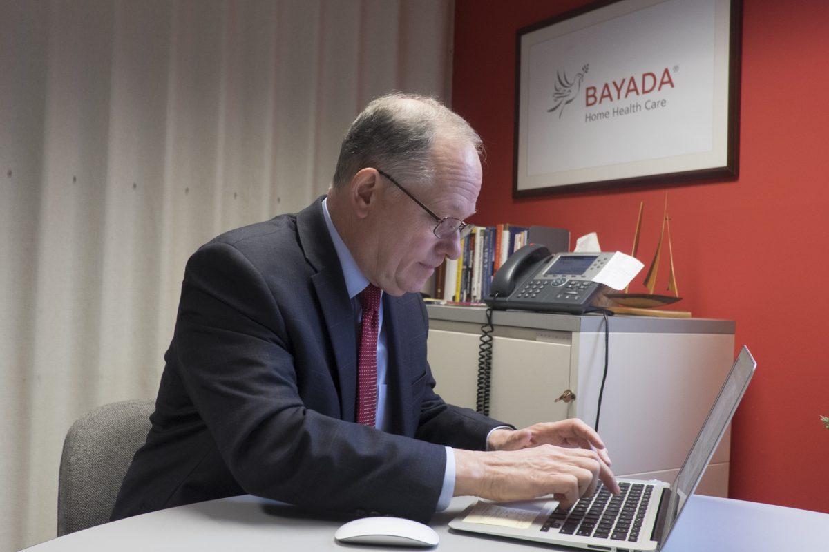 Bayada Home Health Care CEO Mark Baiada in his Moorestown, N.J., office.