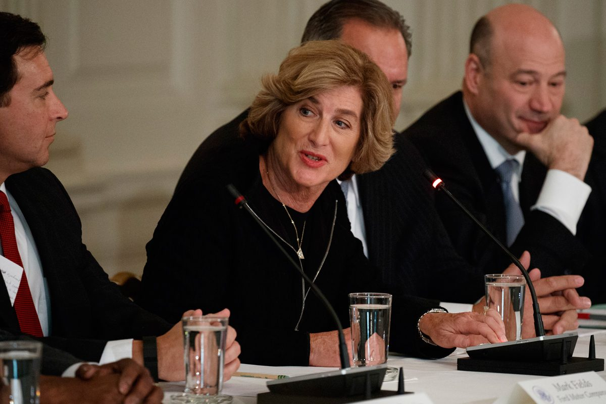 Campbell Soup CEO Denise Morrison at a meeting at the White House in February.