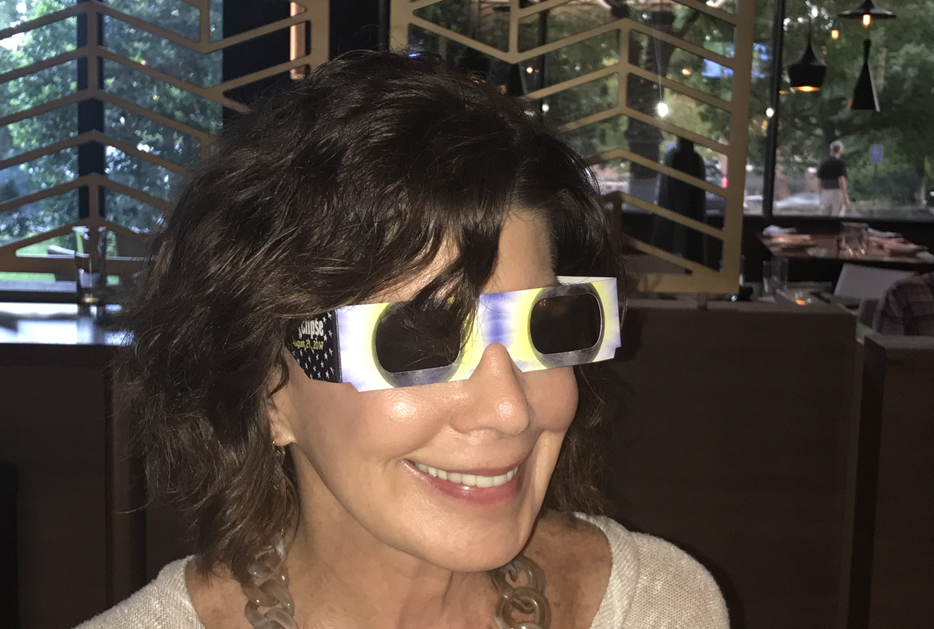 Arlene W. Leib finally found her eclipse glasses