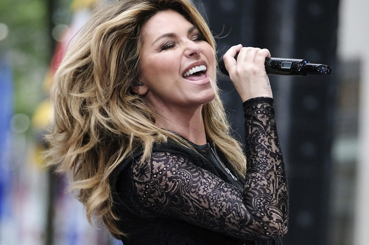In this June 16, 2017, file photo, Shania Twain performs at Rockefeller Plaza in New York.