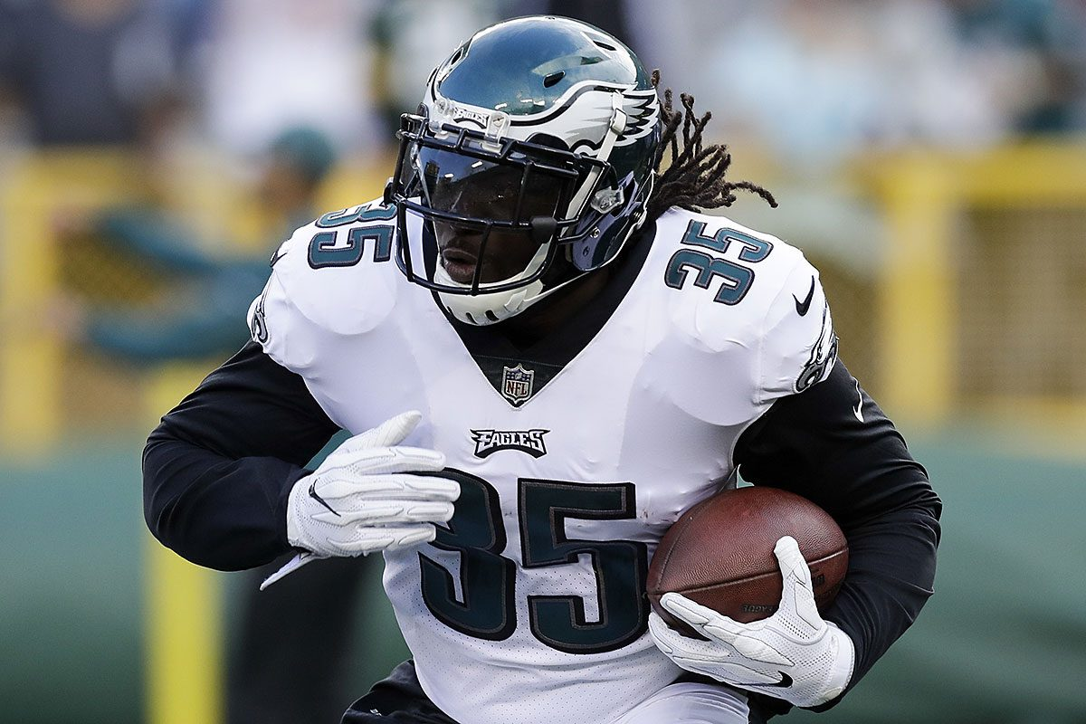 Eagles running back LeGarrette Blount.