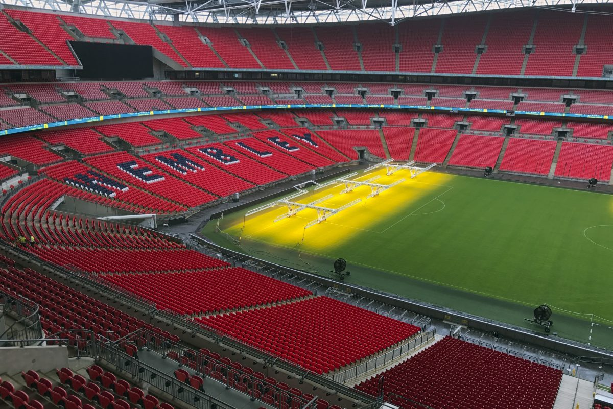 Wembley Stadium hosts its first ever English Premier League match on Sunday when Tottenham plays Chelsea.