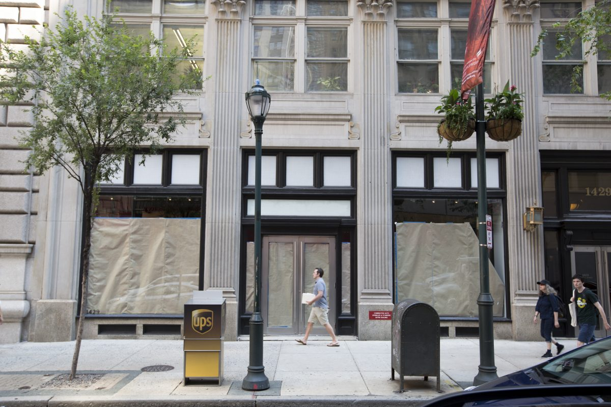 Armani Exchange is closed near Rittenhouse Square.( MARGO REED / Staff Photographer )