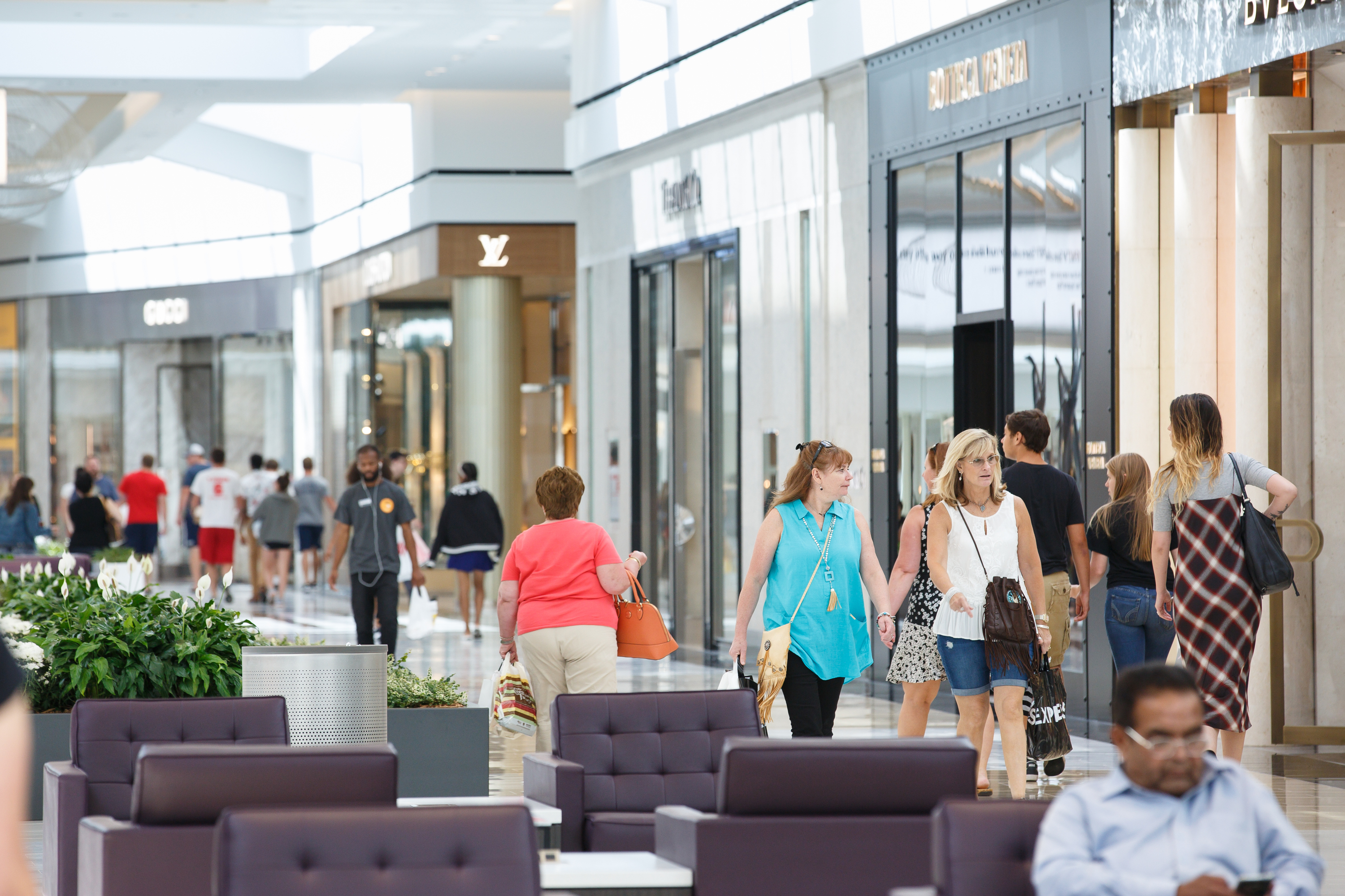Shoppers in the luxury wing at the King of Prussia Mall, home to about 45 mostly luxury retailers,. JESSICA GRIFFIN / Staff Photographer