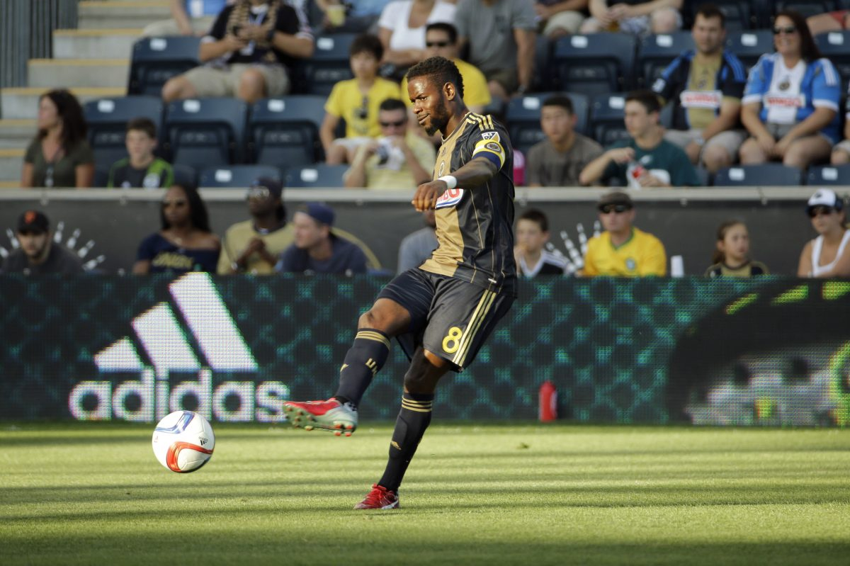 Maurice Edu hasn't played in a game for the Philadelphia Union since Sept. 23, 2015.
