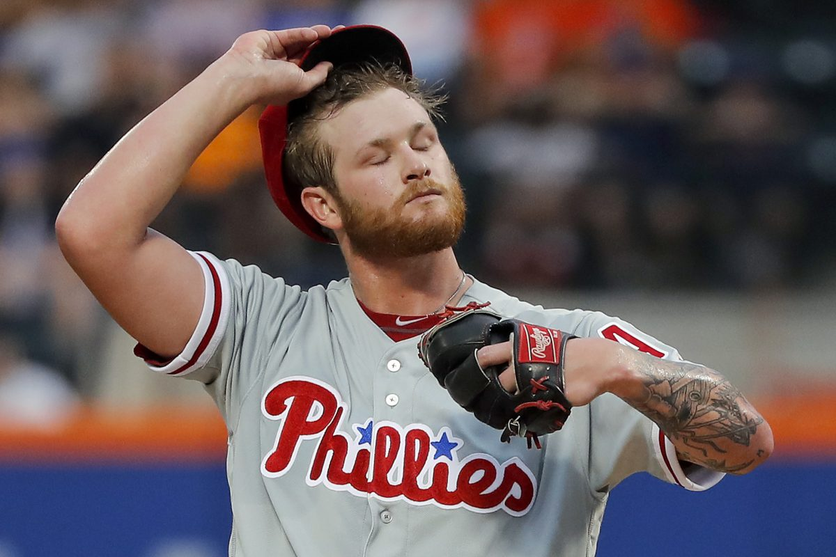 Phillies pitcher Ben Lively is one of the young pitchers in and out of the team's starting rotation.