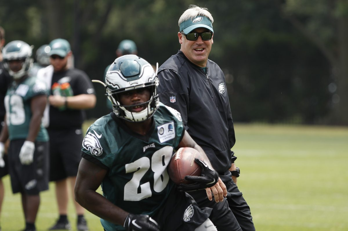 Eagles running back Wendell Smallwood, recovering from a hamstring injury,  is hoping to impress head coach Doug Pederson in his first preseason game action against the Dolphins on Thursday night.