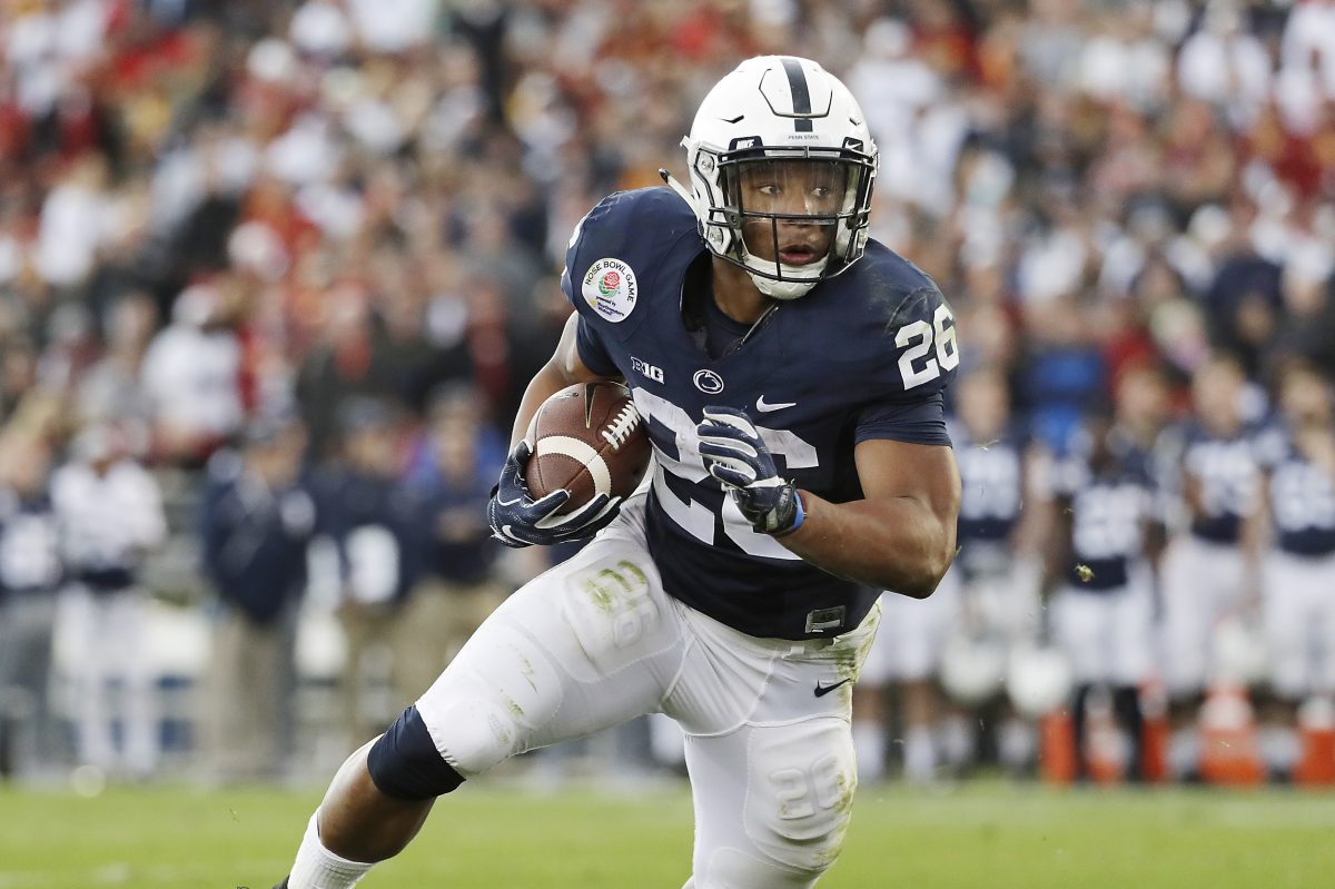 Running back Saquon Barkley is one of Penn State's eight captains this season.