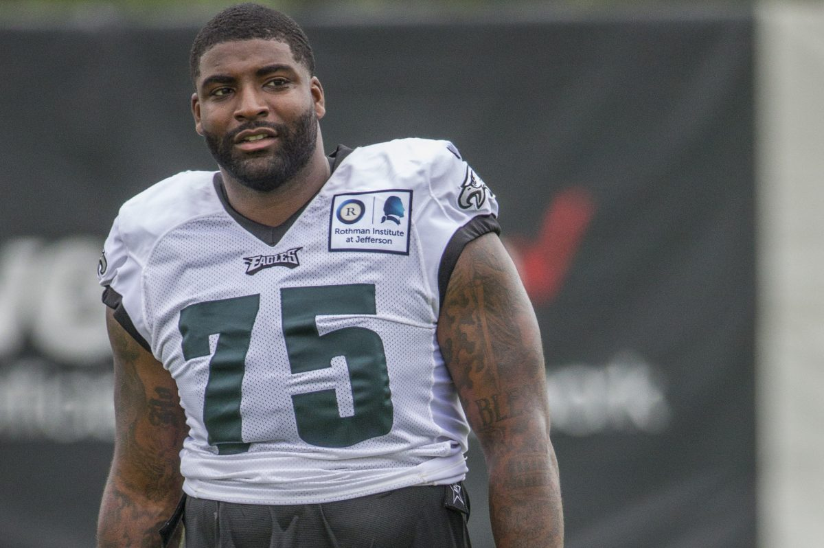 Eagle defensive end Vinny Curry was chided twice on Sunday for not finishing plays strongly.