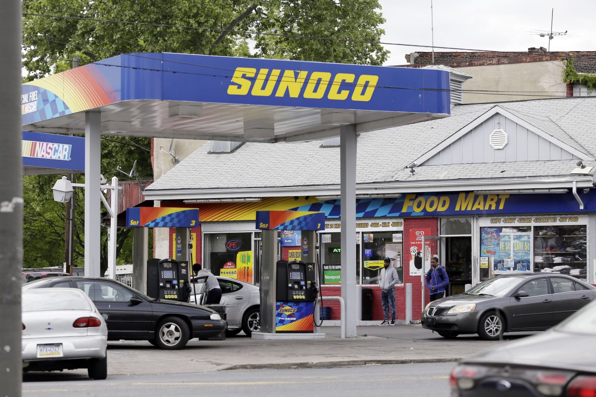 A Sunoco gas station at 33rd and York Streets in Philadelphia.