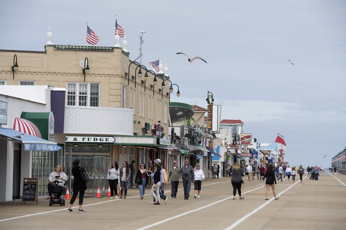 The Ocean City boardwalk on May 24, 2017. Businesses all up and down the OC boardwalk, are finalizing preparations for the start of the summer season Memorial Day Weekend.